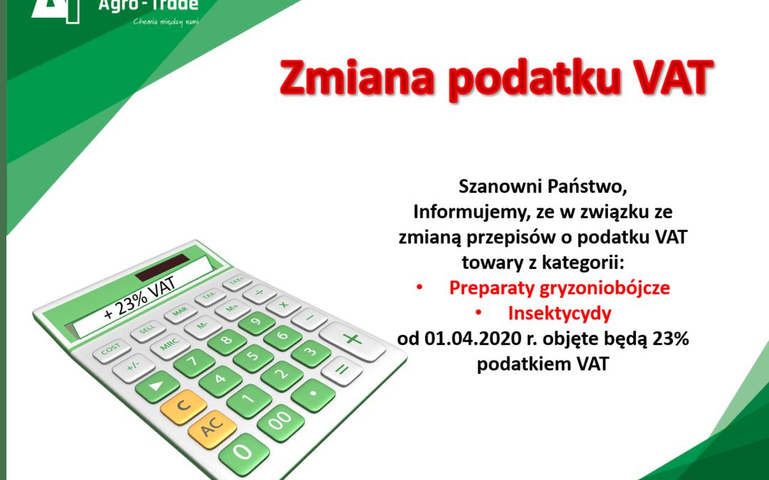 Zmiany stawek VAT